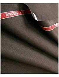 Raymond Men's Polyester Unstitched Trouser Fabric Brown_1.25 meters