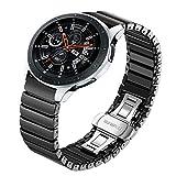TRUMiRR Kompatibel mit Galaxy Watch 46mm Armband, 22mm Keramik Uhrenarmband Quick Release Armband für Samsung Galaxy Watch 46mm, Gear S3 Frontier