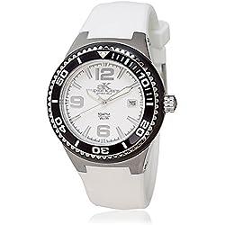Adee Kaye Yatch Damen Weiß Keramik Armband Keramik Gehäuse Uhr ak2230SS-LIPB/WT