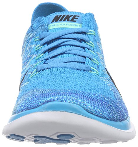 NikeFree 4.0 Flyknit - Scarpe Running Donna Blu (Blau (Blue Lagoon/Black-Game Royal 400))