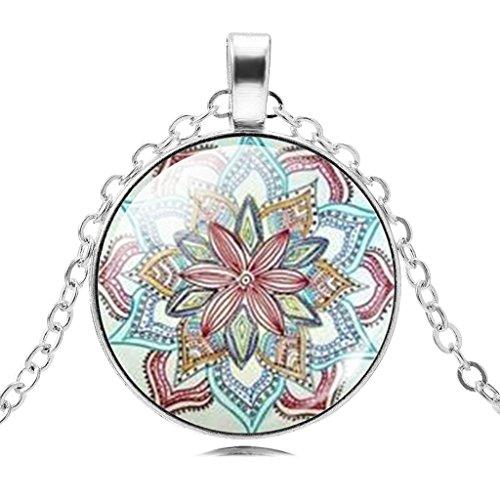 Buddhismus Lotus Leuchtende Zeit Edelstein Anhänger Kette Halskette Für Männer Frauen
