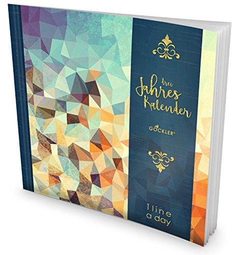 GOCKLER® 3 Jahres Kalender: 190+ Seiten Journal für 3 Jahre    Glänzendes Softcover    Ideal als Tagebuch, Terminplaner, Notizkalender oder Tagesplaner    DesignArt.: Triangle (3-jahres-planer-kalender)
