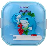 WonderKart® BPA Free Lion Star Kids Lunch Box - Blue (Print May Vary)