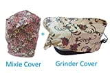 Mixer Grinders Cover and Table Top Wet Grinders Cover (Total: 2 PCS), for All Types of Mixies and Grinders, Free Size, Design & Color May Vary