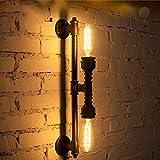 Lampada da parete industriale retrò in acciaio inox Lampada da parete in ferro Steampunk Lampada da parete decorativa, E27, 220-240V Lampada da cucina Lampada da camera Accessori Soggiorno Cucina Sal