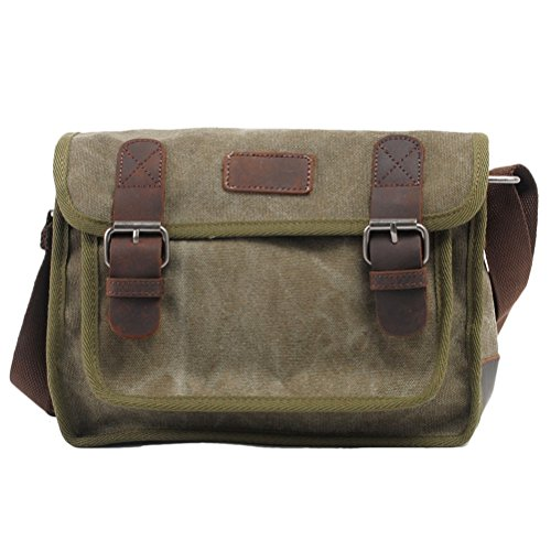 Zhhlaixing Borsa casuale Canvas Messenger Bags Leisure Ladies Shell Shoulder Bag Package for Women Army Green