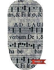 Charcoal Music Sheet - Nail Wraps by YRNails