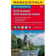 MARCO POLO Freizeitkarte Ostfriesland, Ostfriesische Inseln 1:100.000