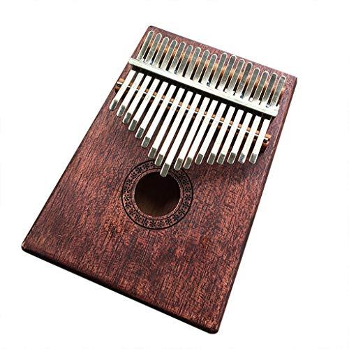 Mitlfuny Black Friay DE Cyber Monday DE,Kalimba 17 Keys Tragbarer Daumen Klavier Mbira Sanza Mahagoni Korpus Erz Metallzinken