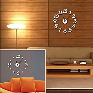 Horloge murale 3D'AUTOCOLLANTS EVA Creative Digital Clock Living room Bedroom canapé cuisine Décoration maison E-001