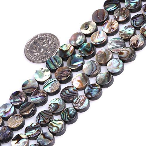 Sweet & Happy Girl'S Store 8mm Münze Natur Abalone Muschel Perlen Strang 15 Zoll