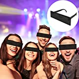 Monsterzeug Partybrille Schwarzer Balken Brille, Zensurbrille, Black Bar Glasses, Spaßbrille Zensurbalken, Party Sonnenbrille, Incognito Balkenbrille, Spaßgeschenk, Scherzartikel