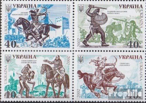 Prophila Collection Ukraine 485-488 Viererblock (kompl.Ausg.) 2002 Militärgeschichte Skythenkrieger (Briefmarken für Sammler) Militär