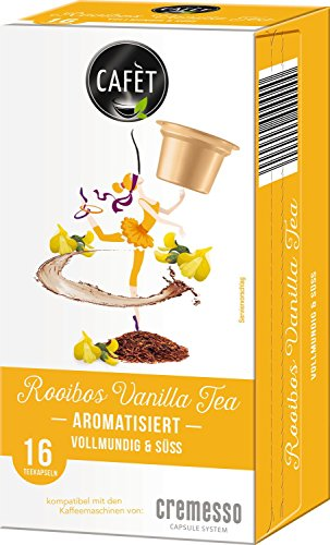 Cafet für Cremesso, 16 Teekapseln, Rooibos Vanilla Tea