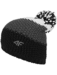 e8940129ee3 4F CAM011 Men s Knitted Bobble Hat Winter Hat with Bobble and Fleece Inner  Band Ideal for