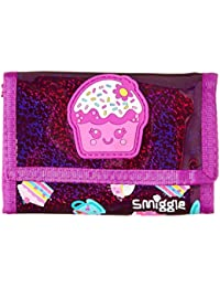 Smiggle Wallet Purple Cupcake City Flap with Zip Pockets