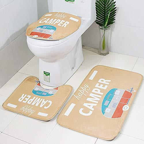 DEESEE(TM) 3 Stück rutschfeste Saugnapf-Matte Badezimmer Küche Teppich Fußmatten Dekor (Dekorieren Für Halloween-billig)