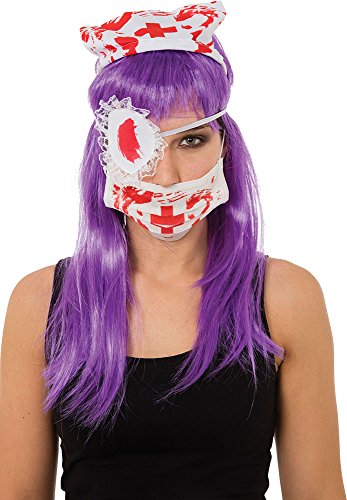 Damen Halloween Kostüm Party Outfit Unheimlich Doctor Horror Blutige Krankenschwester Kit