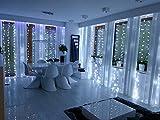 LED Lichterkette 3m x 3m 300Vorhang Terrasse Camping Wohnwagen Jardin Loft Fiesta Party Balkon Fenster innen- und Spaltung Stellen