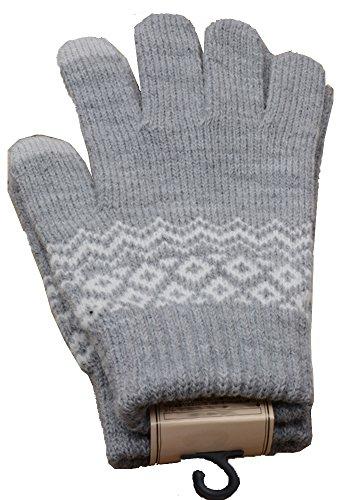 Frauen Freizeit Handschuhe Nachahmung Kaschmir Full-Finger Outdoor-Handschuhe,grau (Baseball Reebok Handschuh)