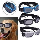 Molie UV Sonnenbrillen wasserdichten Schutz Hundebrillen für Haustier Hunde (Silver)