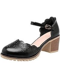 Artfaerie Damen Stiletto High Heels Riemchenpumps mit Spitze und Schnalle Pointed Toe Elegant Hochzeit Brautschuhe 7JRkxLT3sx