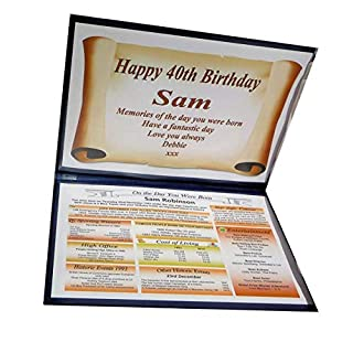 NWM-Gifts BIRTHDAY GIFT - PERSONALISED - THE DAY YOU WERE BORN - KEEPSAKE