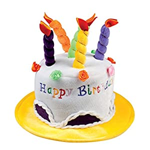Boland 00936-Sombrero Happy Birthday, varios , Modelos/colores Surtidos, 1 Unidad