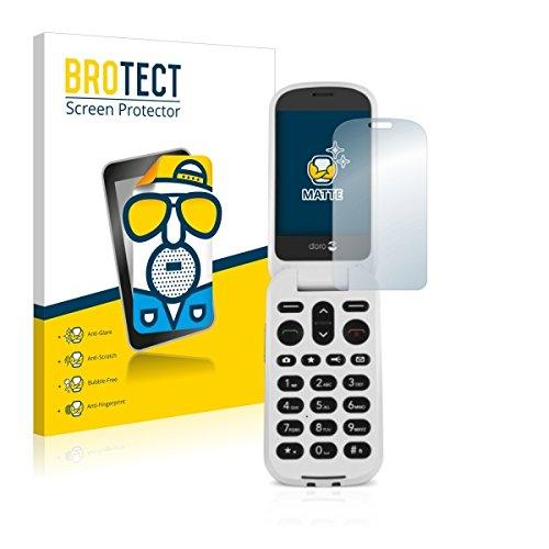 2X BROTECT Matt Bildschirmschutz Schutzfolie für Doro 6050 (matt - entspiegelt, Kratzfest, schmutzabweisend)