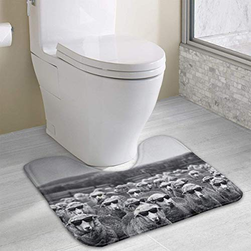 Hoklcvd Glasses Sheep Non Slip Contour Bath Mat for Toilet Absorbent Water Perfect for Bathroom Buy Bath Mats online at Best Prices