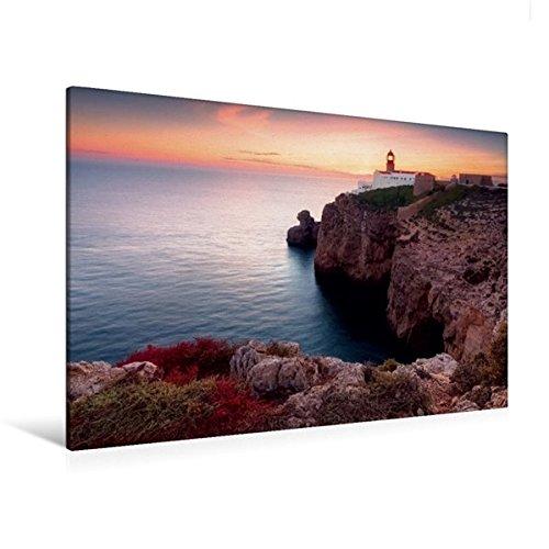 Preisvergleich Produktbild Premium Textil-Leinwand 120 cm x 80 cm quer, Am Ende der Welt (Cabo de São Vicente / Algarve) | Wandbild, Bild auf Keilrahmen, Fertigbild auf echter Leinwand, Leinwanddruck (CALVENDO Orte)