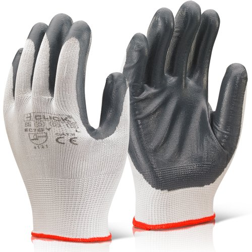 51qetl83ppL BEST BUY #15 Pairs Of Grey / White Nitrile Coated Polyester Precision Work Gloves Size 9   Large   Comes with TCH Anti Bacterial Pen! price Reviews uk