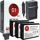 DOT-01 3X Brand Canon EOS 4000D Batteries And Charger For Canon EOS 4000D DSLR And Canon 4000D Battery And Charger Bundle For Canon LPE10 LP-E10