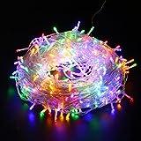 Yorbay 45m 400 LEDs Lichterkette aus Kupferdraht Bunt IP44 wasserdicht mit 8 Modi für Weihnachten, Party, Hochzeit, Haus Dekoration, Innen & Außen