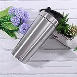Protein-Shaker-Flasche mit Mixer, Dual-Layer-304 Edelstahl, 739ml / 26oz, 7 Farben, BPA-frei, Lebensmittelqualität PP, mit Scale Inside - Whey Protein Shaker (Silber)