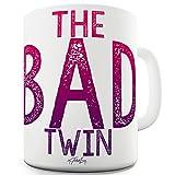 TWISTED ENVY Keramiktasse mit Aufschrift The Bad Twin 11 OZ weiß