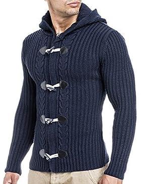 BALANDI suéter de hombre camiseta Hoody (S, 20520 gris)