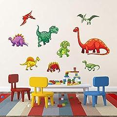 Idea Regalo - decalmile Adesivi Murali Colorato Dinosauro Adesivi da Parete per Bambini Animali Decorazione Murale Ragazzo Camera Bambini Camera da Letto