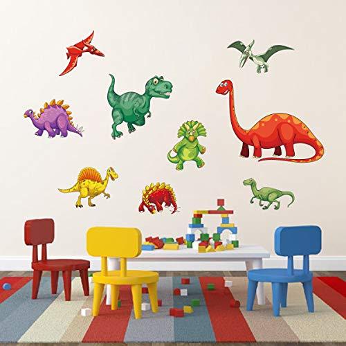 Decalmile Pegatinas de Pared Dinosaurio Colorido Vinilos Decorativos para Niños Adhesivos...