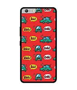 Chnno 2d pattern Printed Back Cover For Micromax Canvas Knight 2 E471