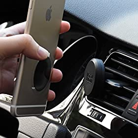 Car Phone Holder, YOSH Magnetic Car Air Vent Mount for Phones like iPhones X 8 7 6s 6 plus, Samsung Galaxy Note8 S8 plus Moto LG Huawei P10 Asus HTC Nexus and GPS devices (Black)
