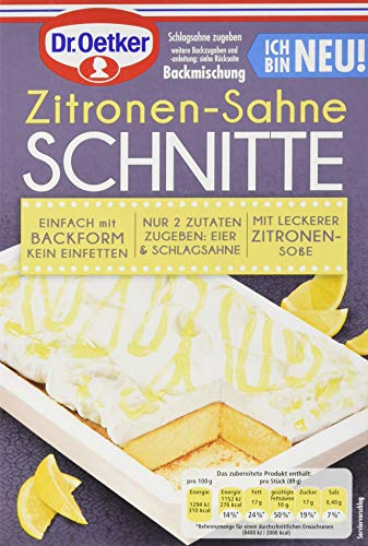 Dr. Oetker Zitronen-Sahne Schnitte, 8er Pack (8 x 243 ml)