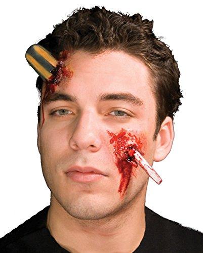 Horror-Shop Schraubenzieher Wunde Latexapplikation als Make-up Effekt