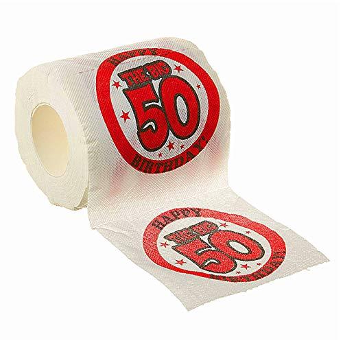 The Big 50 Birthday Toilet Paper
