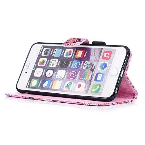 Custodia iPhone 6 Plus, iPhone 6S Plus Cover Wallet, SainCat Custodia in Pelle Flip Cover per iPhone 6/6S Plus, Ultra Sottile Anti-Scratch Book Style Custodia Morbida Cover Protettiva Caso PU Leather  Kirin