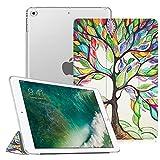 Fintie iPad 9.7 Zoll 2018/2017 Hülle - Ultradünn Superleicht Schutzhülle mit transparenter Rückseite Abdeckung Cover Case mit Auto Schlaf/Wach Funktion für Apple iPad 9,7'' 2018/2017, Liebesbaum