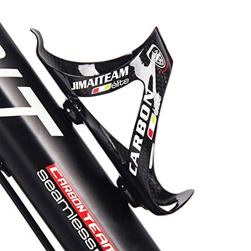 Unbekannt Fahrrad Flaschenhalter Leichte Carbon-Wasser Becherhalter 24g schwarz, black-01