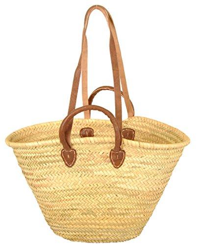 Korbtasche aus geflochtenem Palmblatt
