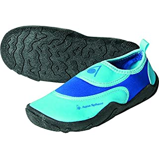 Aqua Sphere Kids' Beachwalker Neoprene Water/Beach Shoe, Light Blue, Size 24/25