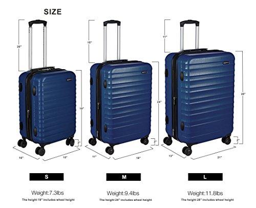 Hardside Luggage Suitcase - 3 Piece Set (55 cm, 68 cm, 78 cm), Navy Blue